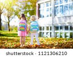 children go back to school....   Shutterstock . vector #1121306210