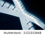 stair step structure. tilt... | Shutterstock . vector #1121313668