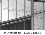 steel and glass. transparent... | Shutterstock . vector #1121313683