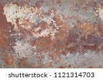 rusty metal background | Shutterstock . vector #1121314703