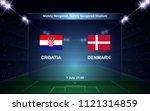 croatia vs denmark football... | Shutterstock .eps vector #1121314859