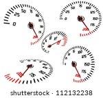 abstract speedometers  normal... | Shutterstock .eps vector #112132238