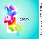 liquid color abstract... | Shutterstock .eps vector #1121326886