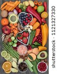 health food for fitness concept ... | Shutterstock . vector #1121327330
