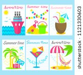 summer party posters template... | Shutterstock .eps vector #1121330603