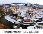 Town Of Cesky Krumlov In Winte...