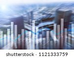 financial graphs and charts on... | Shutterstock . vector #1121333759