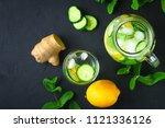 sassy water. fresh cool water... | Shutterstock . vector #1121336126