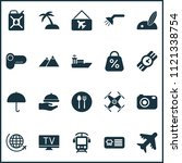 journey icons set with... | Shutterstock .eps vector #1121338754