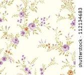 paisley seamless background... | Shutterstock . vector #112134683
