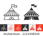 circus tent black linear and... | Shutterstock .eps vector #1121348243