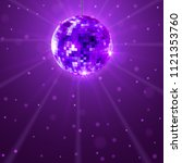disco party background. music... | Shutterstock .eps vector #1121353760