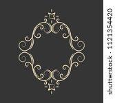 flourish decorative frame.... | Shutterstock .eps vector #1121354420