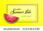 summer time banner with pieces... | Shutterstock .eps vector #1121361230