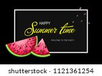 summer time banner with pieces... | Shutterstock .eps vector #1121361254