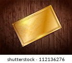 gold frame with space for text...   Shutterstock .eps vector #112136276