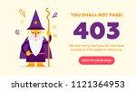 the concept of 403 forbidden... | Shutterstock .eps vector #1121364953
