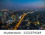 aerial view of modern asian... | Shutterstock . vector #1121374169