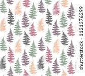 fern frond herbs  tropical... | Shutterstock .eps vector #1121376299
