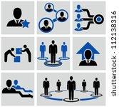 teamwork icons set. | Shutterstock .eps vector #112138316