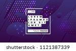 neon glow futuristic background.... | Shutterstock .eps vector #1121387339