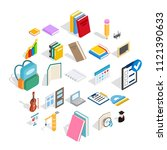 cognition icons set. isometric...   Shutterstock .eps vector #1121390633