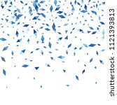 confetti of two colored rhombs... | Shutterstock .eps vector #1121393813