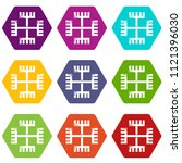 pagan ancient symbol icons 9... | Shutterstock .eps vector #1121396030