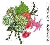 exotic bouquet set. flowers.... | Shutterstock .eps vector #1121403623
