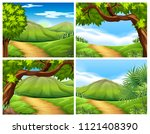 a set of beautiful landscape... | Shutterstock .eps vector #1121408390