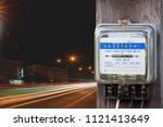 electricity meter cobb energy...   Shutterstock . vector #1121413649