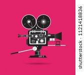 movie camera classic and unique ... | Shutterstock .eps vector #1121418836