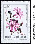 argentina   circa 1989  a stamp ... | Shutterstock . vector #112142189