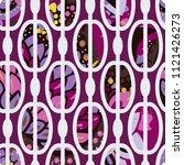 trendy seamless pattern in... | Shutterstock .eps vector #1121426273