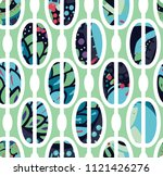 trendy seamless pattern in... | Shutterstock .eps vector #1121426276