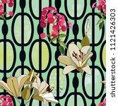trendy floral seamless pattern... | Shutterstock .eps vector #1121426303