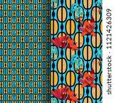 trendy floral seamless pattern... | Shutterstock .eps vector #1121426309