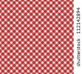 Red  Gingham Fabric  Backgroun...