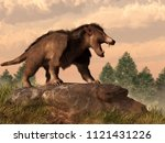 Arctocyon is an extinct prehistoric mammal that was about the side of a medium to large dog.  It lived during the Paleocene and early Eocene in North America. 3D Rendering