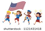 american children of various... | Shutterstock .eps vector #1121431418