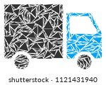 shipment van collage of... | Shutterstock .eps vector #1121431940