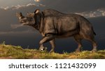 Brontotherium was a prehistoric mammal that lived in North America about 35 million years ago. It