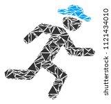 running gentleman collage of...   Shutterstock .eps vector #1121434010