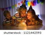 kids birthday party. children...   Shutterstock . vector #1121442593