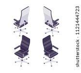 isometric computer chair... | Shutterstock .eps vector #1121444723
