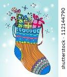 Xmas color socks, bright vector illustration - stock vector