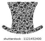 gentleman hat collage of...   Shutterstock .eps vector #1121452400