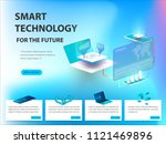 concept of big data processing  ... | Shutterstock .eps vector #1121469896