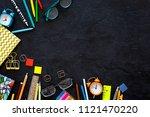 school supplies. student... | Shutterstock . vector #1121470220