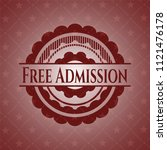 free admission red emblem.... | Shutterstock .eps vector #1121476178